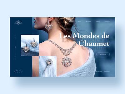 Web Design earring web jewelry card blue ui design