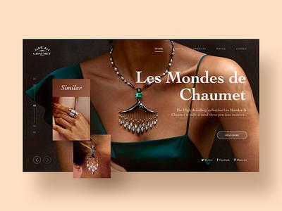 Web Design earings necklace orange yellow jewelry card ui design