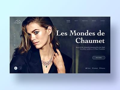 Web Design necklace jewelry blue card ui design