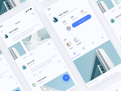 Social APP- redesign white redesign social chat clean 图标 设计 应用 颜色 ui 蓝色