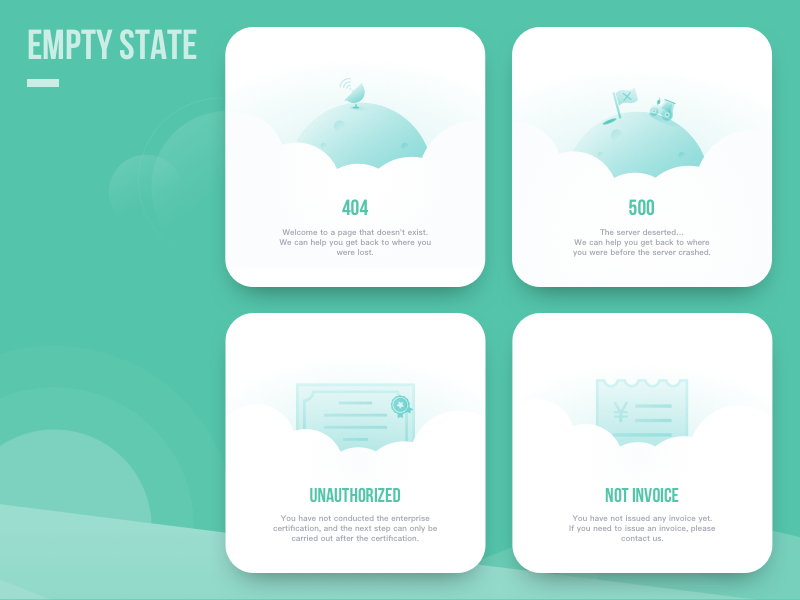 Empty state guide page sun cloud to b meteorological concise clean green invoice earth weather illustration ui empty state seniverse thinkpage