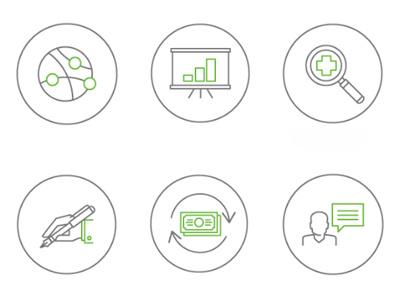 Satmetrix ROI illustration web design graphic design