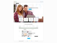 WIX Landing Page Re-design – Desktop and Mobile