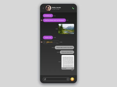 DailyUI challenge #013. Direct Messaging.