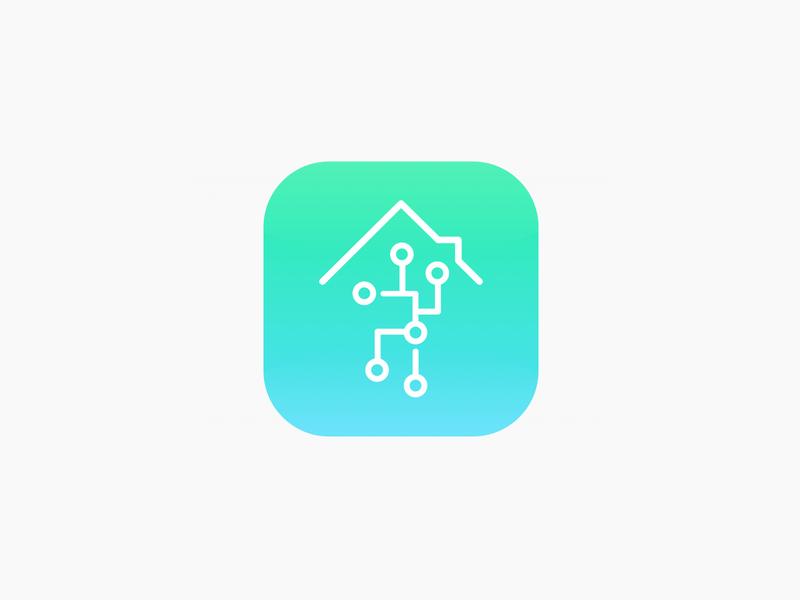 DailyUI challenge #005. Smart home app icon.