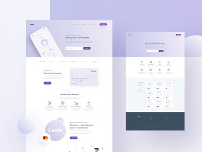 Cente Landing & Customer Support Page - Color Explorations
