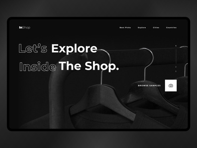 Shop header exploration | Web Design