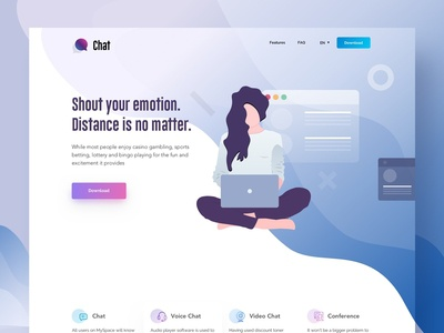 ChatBuzz Landing Page - & Creative Illustration