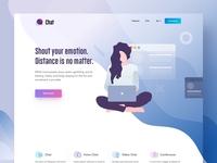 ChatBuzz Landing Page - & Creative Illustration