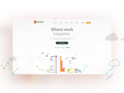 Project management and business web app