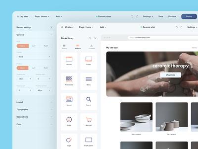 Rise - Website Builder Panel admin design dashbaord product design userinterfaces ui ux