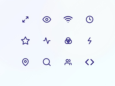 Icon Set gradient template icon pack icon vector branding ui design web