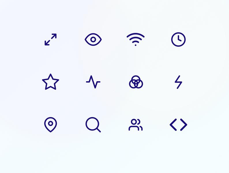 Icon Set gradient template icon pack icon vector branding ui design web