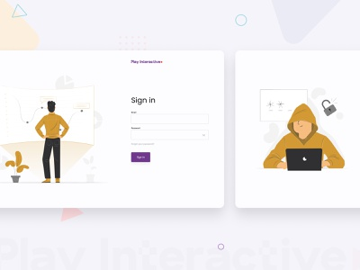 Play Interactive — Sign In game design varification vector userinterfaces admin design illustrations figma sign in product design dashbaord ui ux