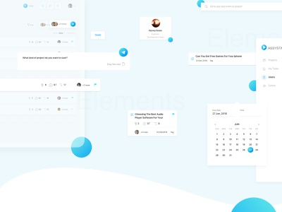 Assysta CRM: UI elements ui kit elements ui guide user crm userinterfaces dashbaord design product design web ui ux ui pack