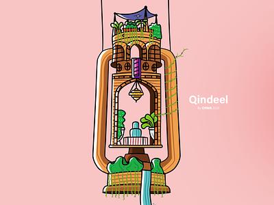 Qindeel ramadan damascus illustration