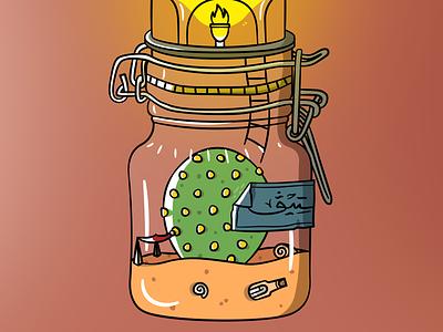 Steve The Cactus design steve cactus illustraion