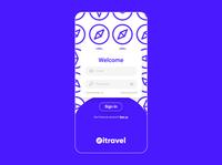 itravel | UI design app icon ux typography design logo branding art direction illustration ui