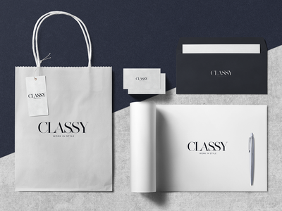 CLASSY art direction branding vector typography illustration design