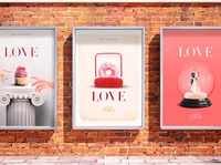 LOVE | Posters graphics poster ui branding illustration design art direction