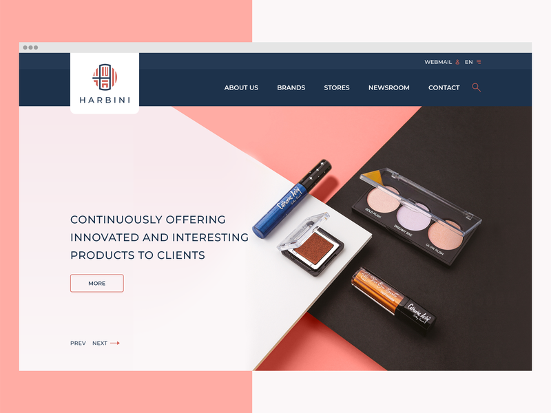 Harbini Cosmetics adobe xd coreup web design ui ux cosmetics harbini