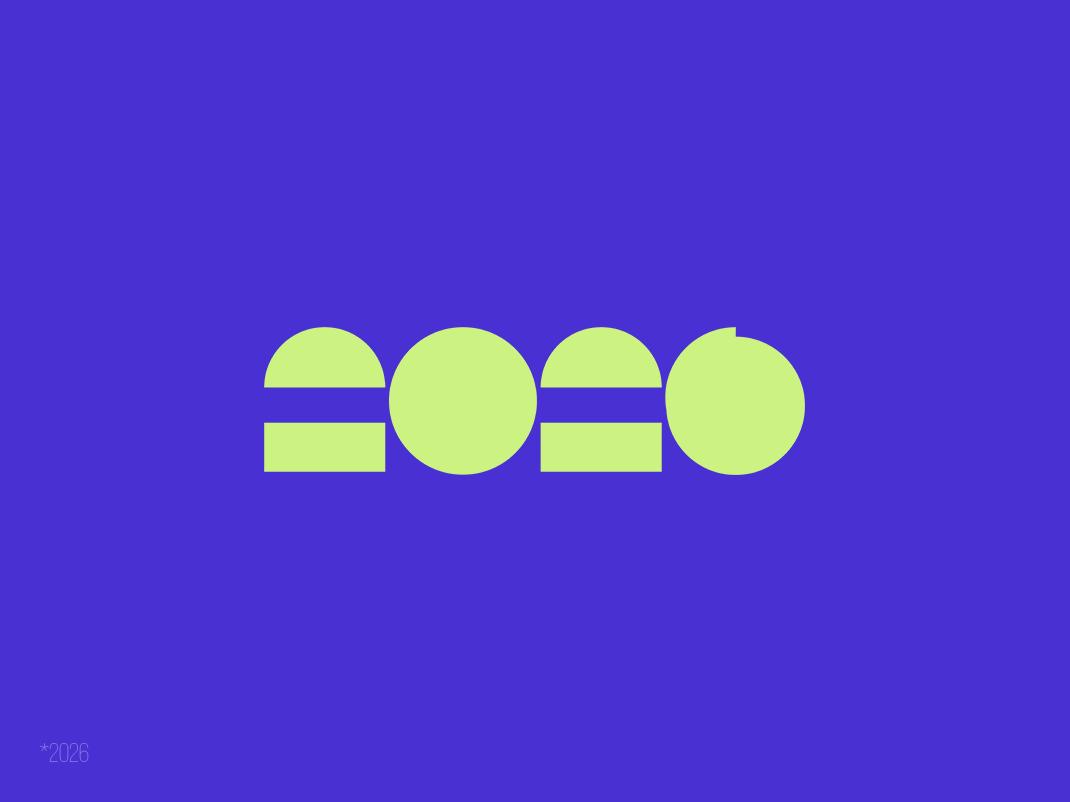 2026 • Logotype numerals 2026 telegram logo logotype design illustration