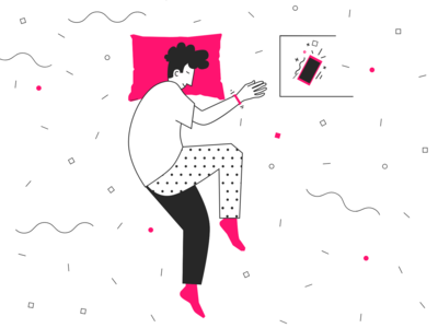Alarm Mobile App Illustration