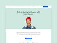 Veriff website landing page haiku illustrations 3d identity verification web web design