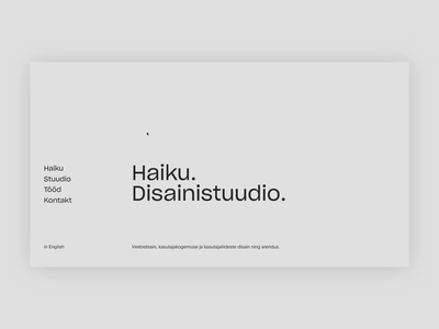 Haiku – a digital-first design studio animation grid minimal clean web estonia tallinn haiku portfolio website studio agency