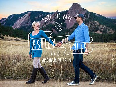 Ashley & Tyler Save the Date flatirons savethedate