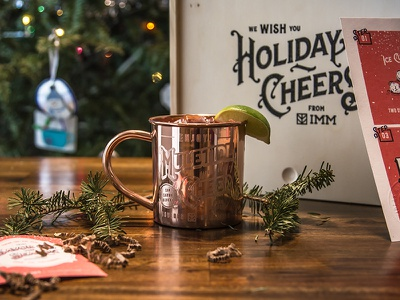 Holiday Gift customtype typography moscowmule coppermugs holiday agency clientholidaygift