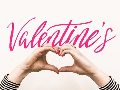 Valentine's Love valentines handlettered typography