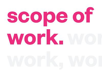 Scope Of Work Work Work Work Work Work modern simple bright rihanna fun typography scopeofwork sow letterhead