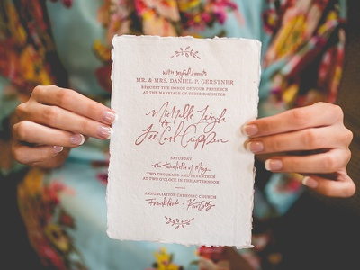 Wedding Suite cottonragpaper print decklededge letterpress handlettering weddinginvitation wedding