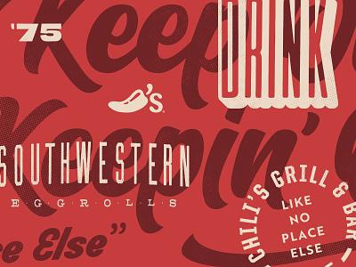 Type Exploration I overlay chilis typography