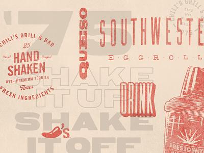 Type Exploration III overlay chilis typography
