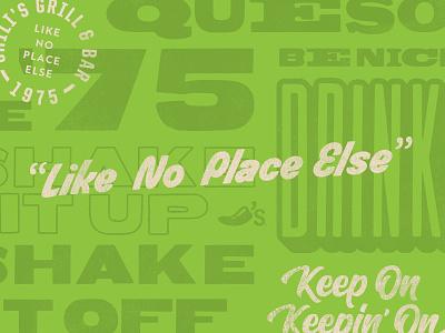 Type Exploration IV overlay chilis typography