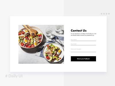 Daily UI / contact form foodwebsite contact dailyui uiux