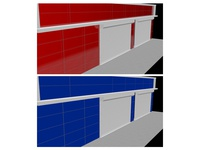 3ds Max shop Cladding for customer