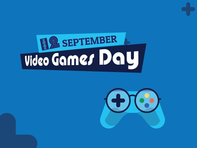 12 September Video Games Day day game video typography branding creative logo
