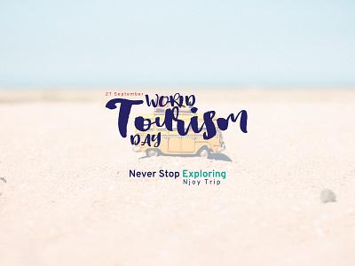 27 September World Tourism Day 2020 branding creative illustration trip tour tourism world