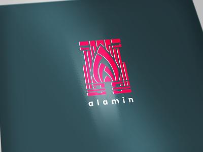 Letter A motion design pink pattern letter logo