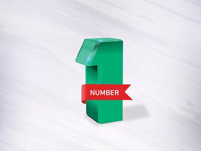 3d NUMBER number logo branding typography illustration creative 3d