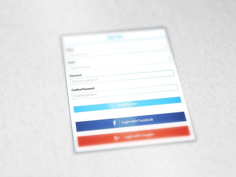 Registration Page by Alamin Prodhania on Dribbble