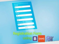 Registration using Bootstrap OOP PHP