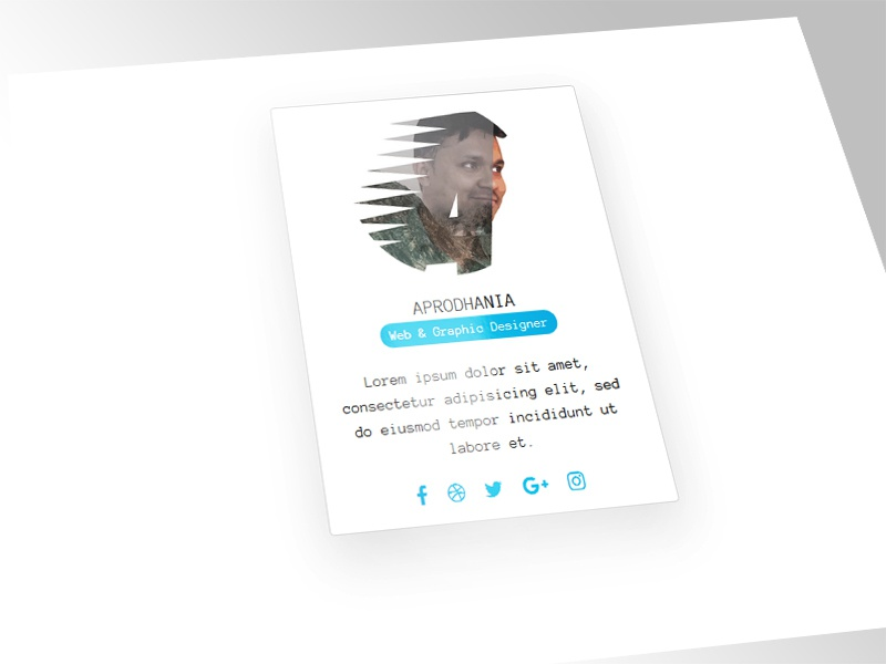 Bootstrap 4 Card by Alamin Prodhania on Dribbble