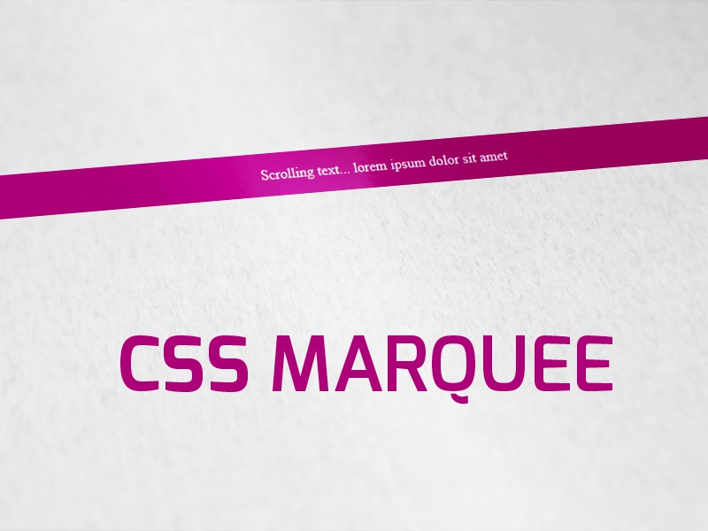 Marquee Html