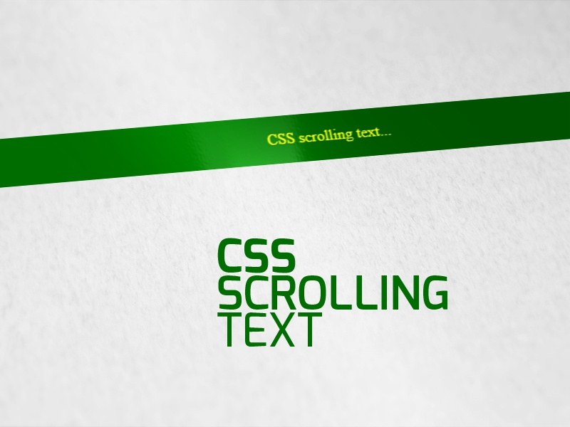 css scrolling text by Alamin Prodhania on Dribbble