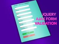 JQUERY Ajax Form Validation