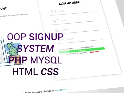 OOP Signup System